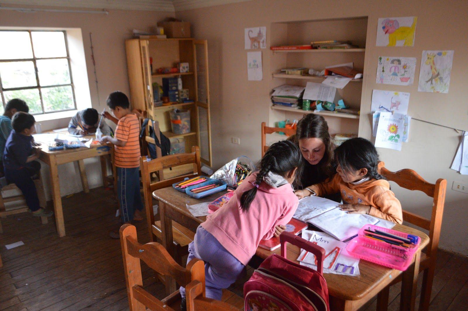 Voluntariado de niños en Cusco